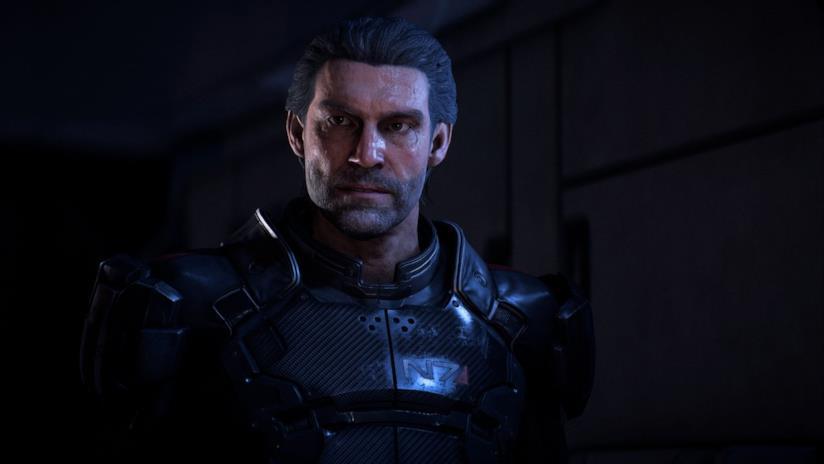 Un primo piano del padre dei due protagonisti di Mass Effect: Andromeda