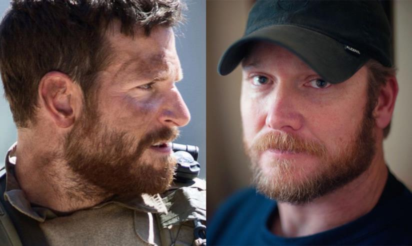 Bradley Cooper in American Sniper e il vero Chris Kyle
