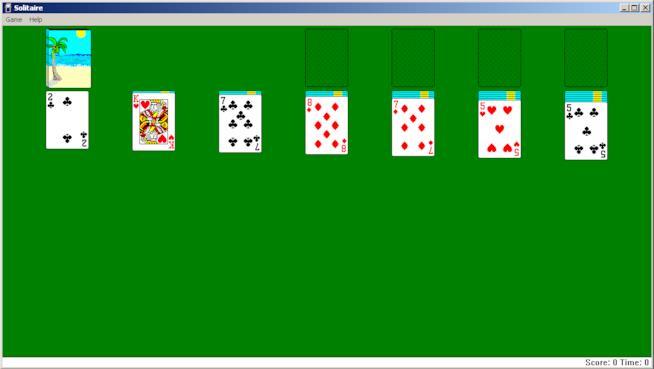 Microsoft Solitaire in esecuzione su Windows 2000