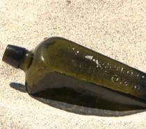 La bottiglia del 1886 contenente il messaggio
