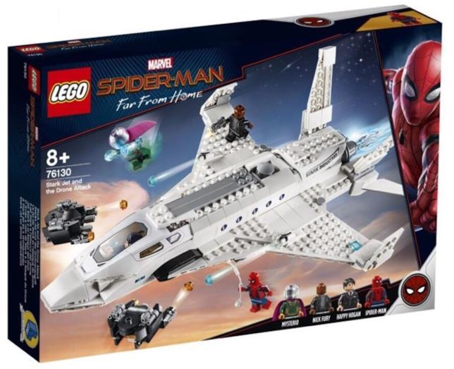 Prima immagine del set LEGO Stark Jet and the Drone Attack, non ancora in commercio