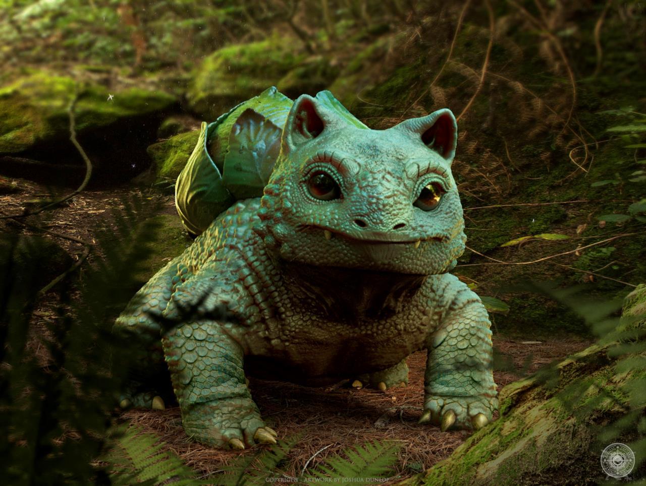 Bulbasaur nel mondo reale così come immaginato da Joshua Dunlop