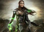 Una guerriera elfa dalla serie The Elder Scrolls