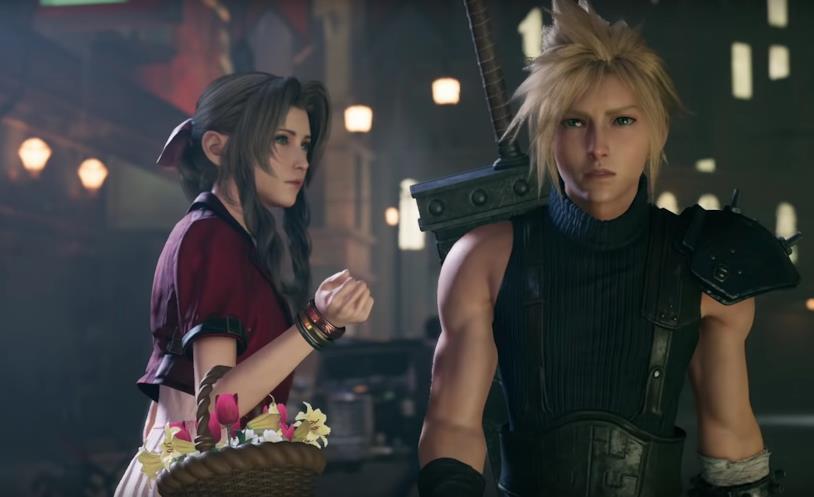 Aerith e Cloud in uno screenshot da Final Fantasy VII Remake