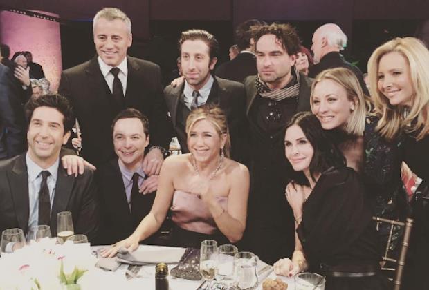 I cast di Friends e The Big Band Theory Insieme