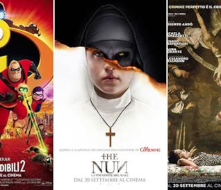 I poster de Gli Incredibili 2, The Nun - La vocazione del male, Una storia senza nome