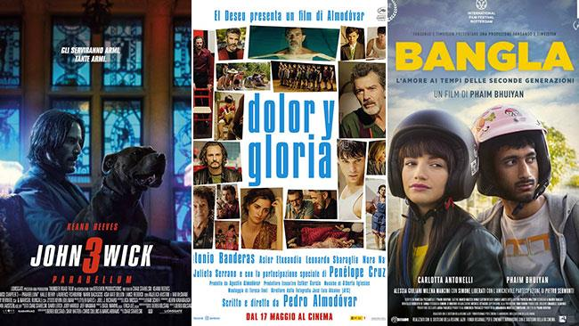 I poster di John Wick 3 - Parabellum, Dolor y Gloria e Bangla
