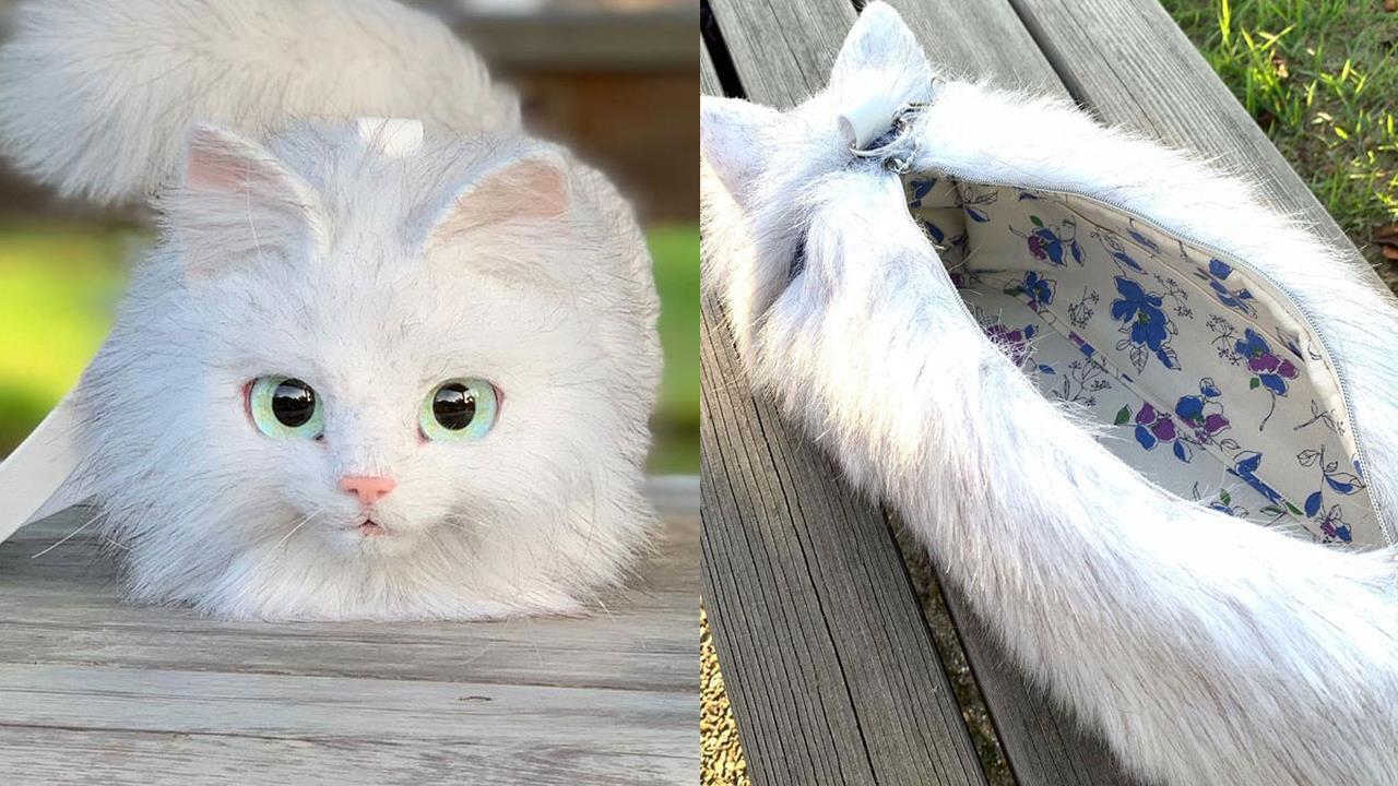Le iperrealistiche borse a forma di gatto