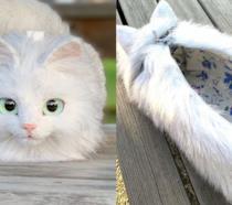 Una borsa a forma di gatto