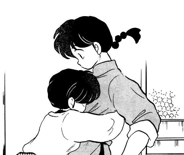 Akane abbraccia Ranma