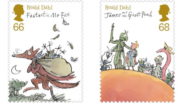 Francobolli per Roald Dahl