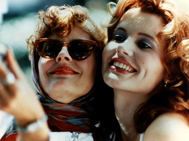 Primo piano di Susan Sarandon e Geena Davis