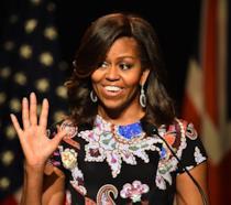 Una sorridente Michelle Obama durante un'intervista