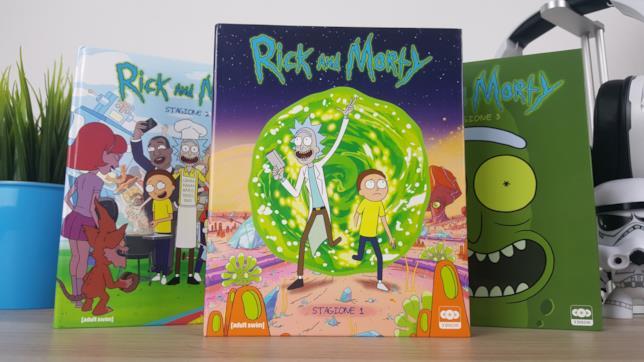 L'edizione in Blu-ray delle prime tre stagioni di Rick And Morty