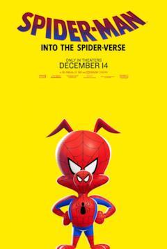 Peter Porker nel poster di Spider-Man: Un nuovo universo dedicato al suo personaggio