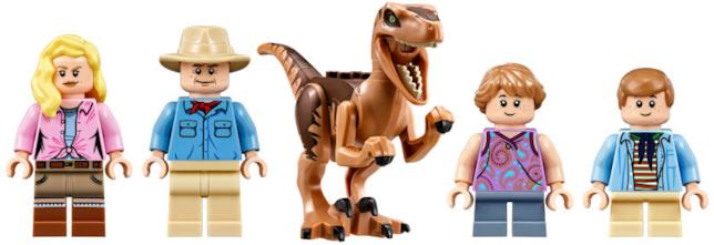 Il set di LEGO Jurassic Park Velociraptor Chase include 4 Minifigure e un Velociraptor