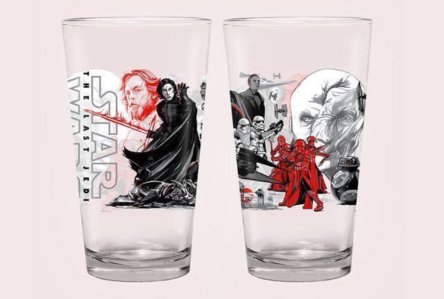 Il bicchiere del Primo Ordine mostra Luke Skywalker tra le sue fila