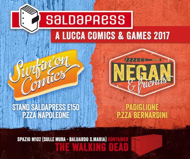 Locandina saldaPress per il prossimo Lucca Comics & Games