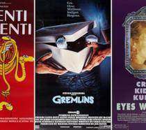 Locandine dei film Parenti Serpenti, Gremlins, Eyes Wide Shut