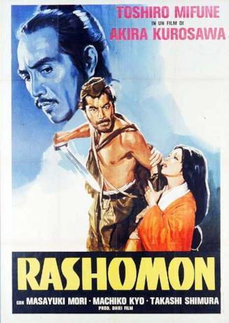 Il poster italiano di Rashomon