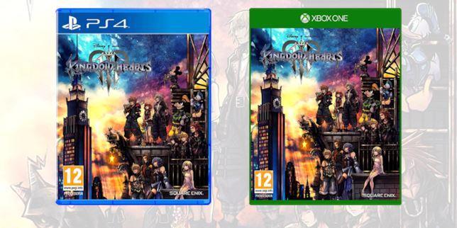 La boxart di Kingdom Hearts III su PS4 e Xbox One