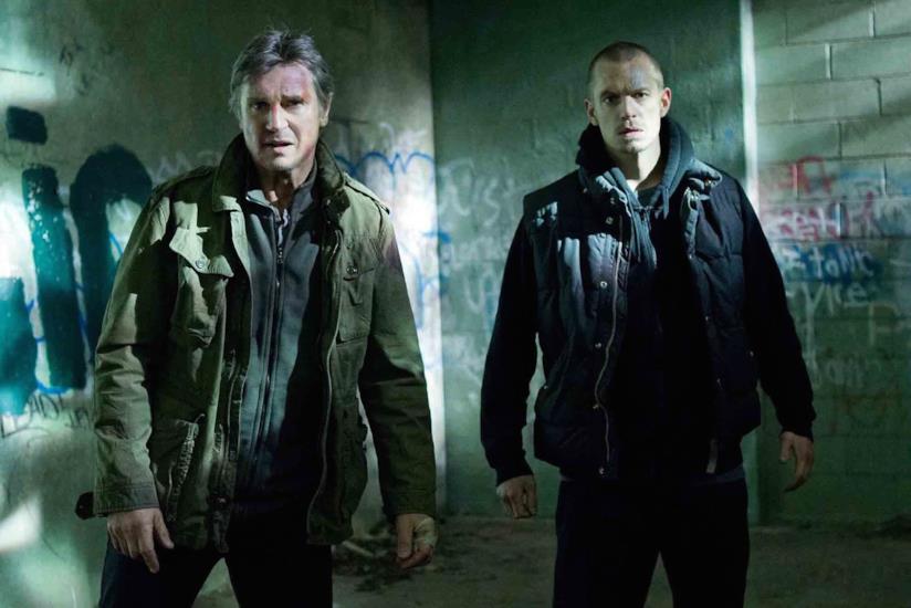 Liam Neeson e Joel Kinnaman sul set di Run All Night - Una notte per sopravvivere
