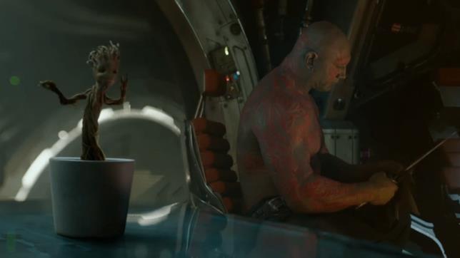 Baby Groot nel finale di I Guardiani della Galassia Vol. 1