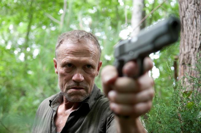 L'attore Michael Rooker nei panni di Merle Dixon in The Walking Dead