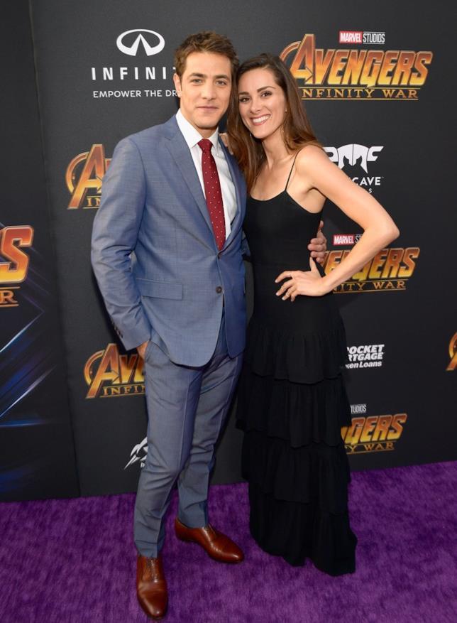 Alberto Frezza e Stefania Spampinato alla premiere di Avengers Infinity War