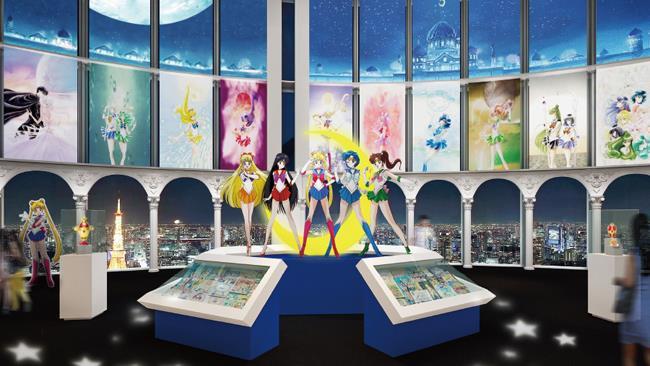 L'ingresso della mostra dedicata a Sailor Moon a Tokyo