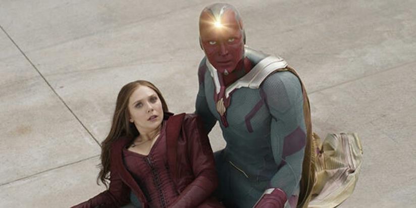 I personaggi di Wanda Maximoff e Visione in una scena del film Captain America: Civil War
