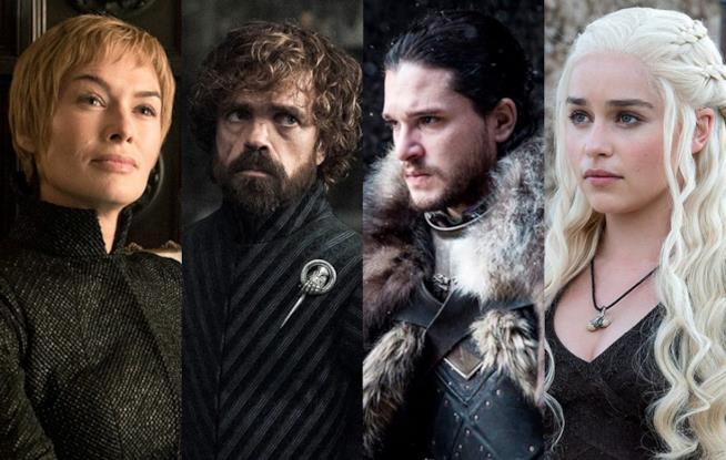 Alcuni protagonisti della Stagione 8 di Game of Thrones