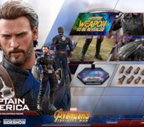 Hot Toys ha realizzato delle action figure di Captain America e della Vedova Nera  per Infinity War