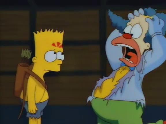 Bart e Krusty dall'episodio Kamp Krusty