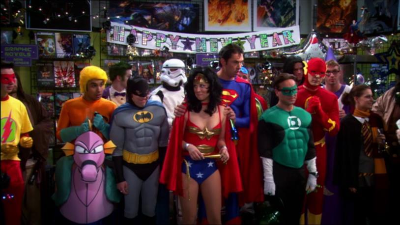 The Big Bang Theory, i ragazzi con i costumi della Justice League