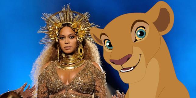 Beyonce con Nala
