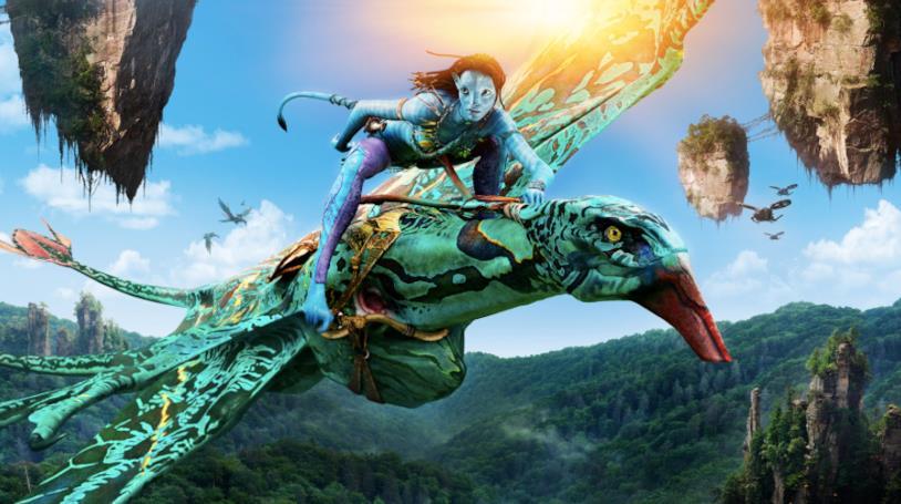 Una scena di Avatar durante un volo