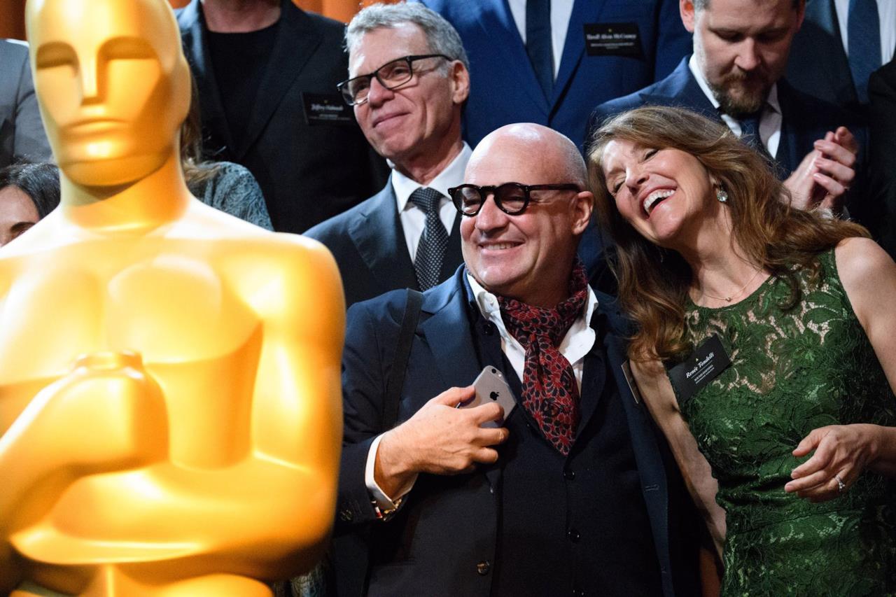 Gianfranco Rosi (nominato agli Oscar per il miglior documentario) e Renée Tondelli (nominata agli Oscar per il miglior montaggio sonoro)