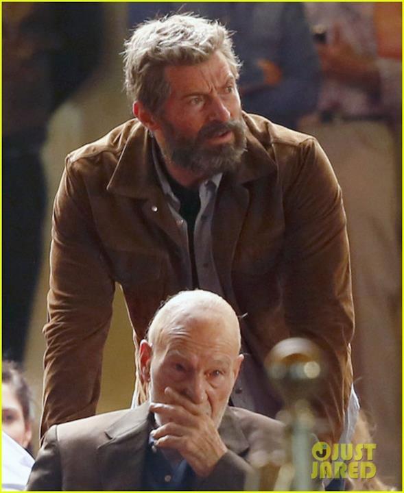 Hugh Jackman e Patrick Stewart insieme sul set di Wolverine 3