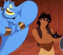Una scena di Aladdin e il genio con Guy Ritchie sovrimpresso