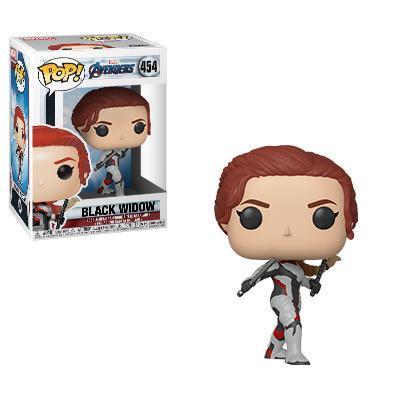 Vedova Nera con la tuta bianca e i capelli rossi in versione Funko Pop!