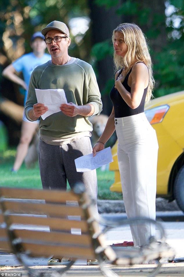 Robert Downey Jr. e Gwyneth Paltrow nel set di Avengers 4