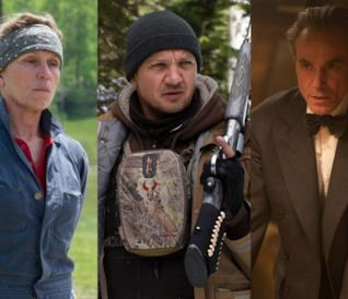 Frances McDormand, Jeremy Renner e Daniel Day-Lewis nella cover