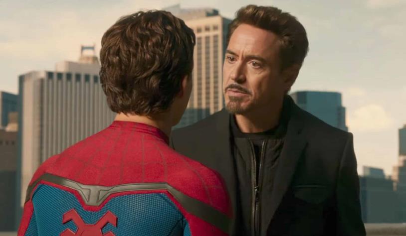 Peter Parker e Tony Stark in una scena di Spider-Man: Homecoming