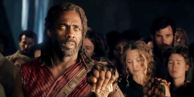 Idris Elba in una sequenza di Avengers: Infinity War