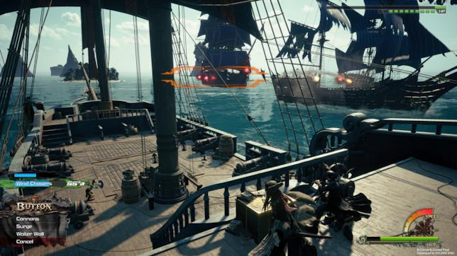 Un'immagine dallo scenario dei Pirati dei Caraibi