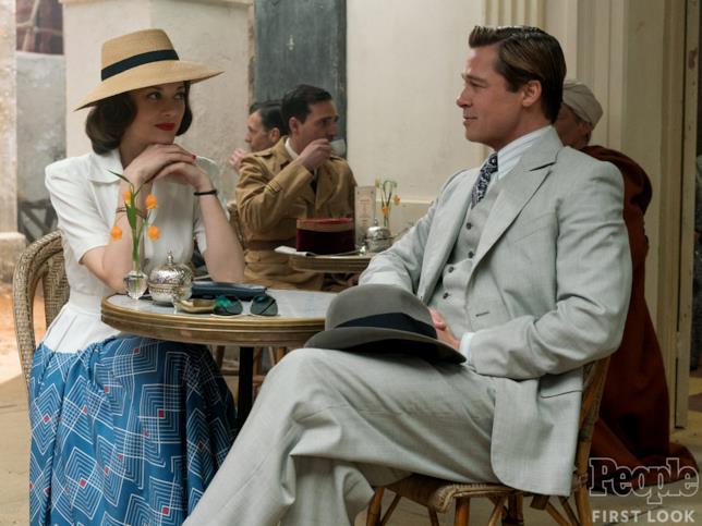 Brad Pitt e Marion Cotillard in una scena di Allied
