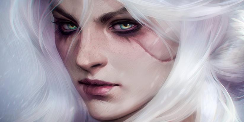 Un primo piano di Ciri da The Witcher