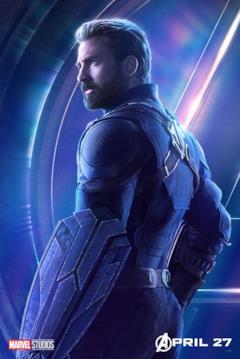 Il poster del personaggio di Captain America