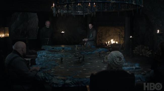 Jon, Varys, Davos e Daenerys a Grande Inverno